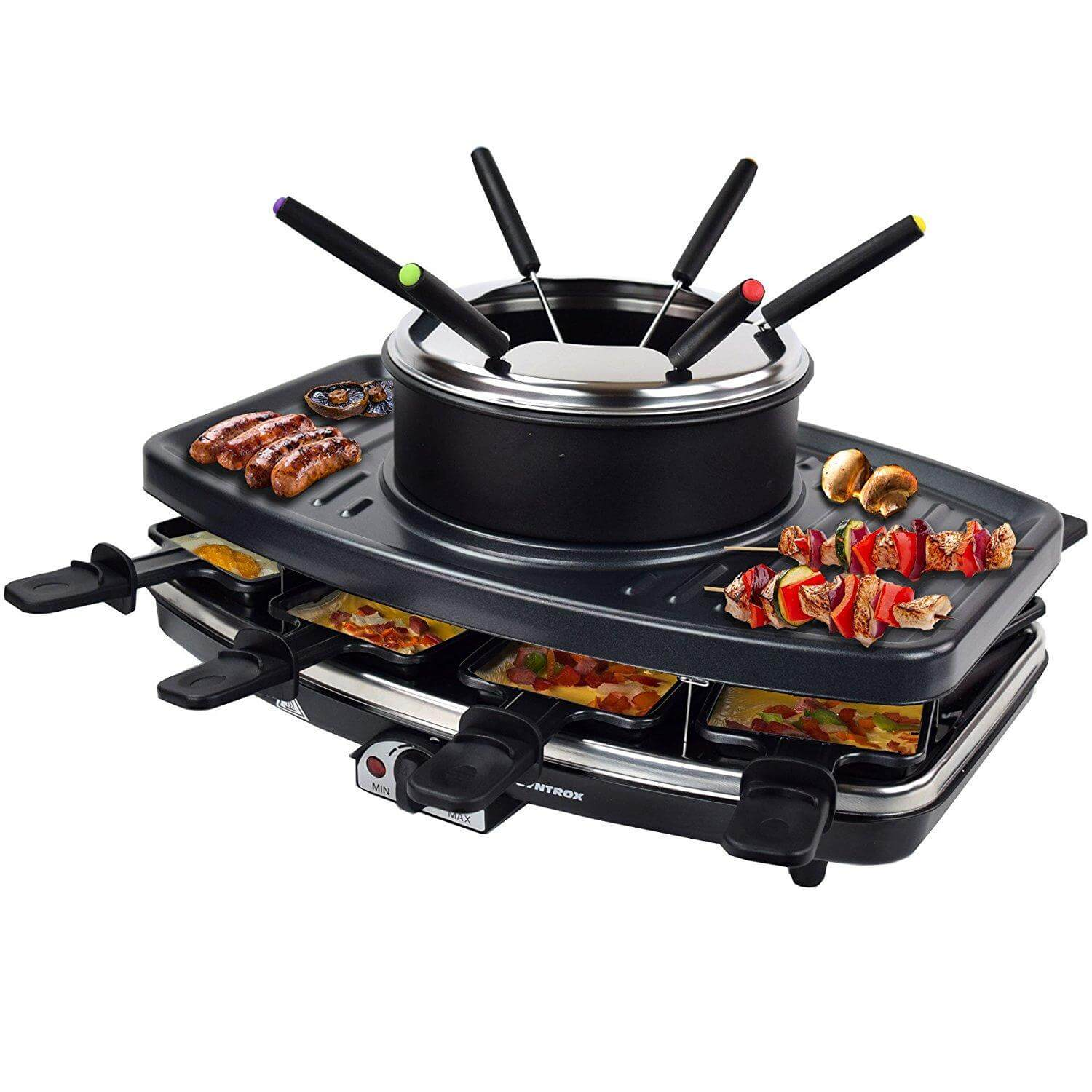 Syntrox Raclette Grill mit Fondue